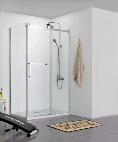 Душевой уголок Bravat Wave BS120.3102S, 120 x 80 x 200 см, двери раздвижные, стекло прозрачное, хром