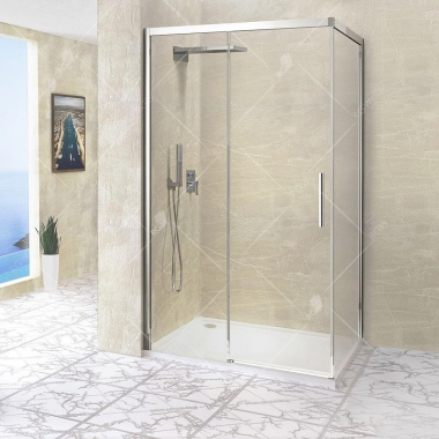 Душевой уголок RGW LE-41, 34124187-11, 170 х 80 x 195 см, стекло прозрачное, профиль хром