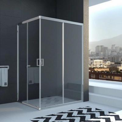 Душевой уголок Veconi Rovigo RV-10, 100 x 90 см, профиль хром, стекла прозрачные