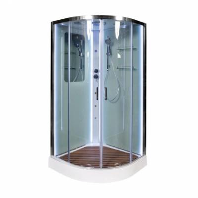 Душевая кабина Deto A 09 90 x 90 см, с крышей, Led с кнопкой и гидромассажем