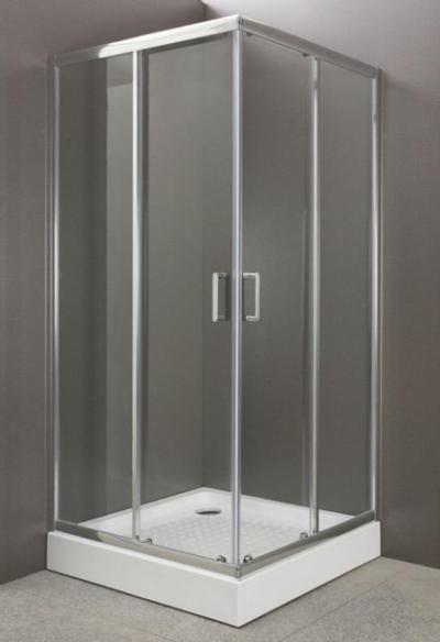 Душевой уголок BelBagno Uno-195, UNO-195-A-2-100-C-Cr, 100 х 100 х 195 см, профиль хром, стекло прозрачное