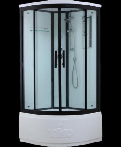 Душевая кабина Timo Standart Т-6600 Black 100 x 100 см, с крышей, с донным клапаном, черный