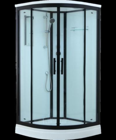 Душевая кабина Timo Standart Т-6601 Black 100 x 100 см, с крышей, с гидрозатвором, черный