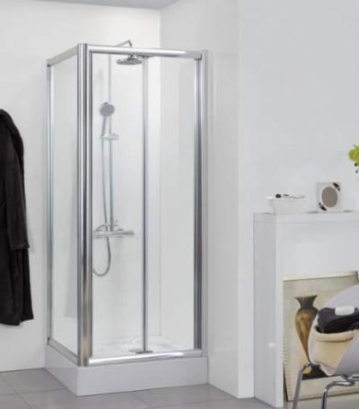 Душевой уголок Bravat Drop BS090.2120A, 90 x 90 x 200 см, стекло прозрачное, профиль хром