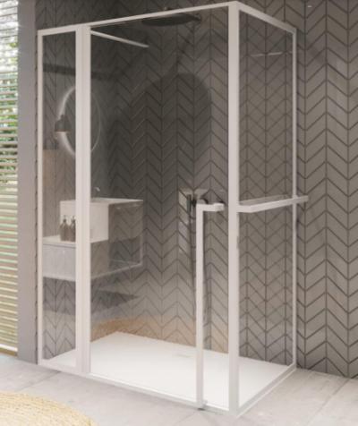 Душевой уголок Riho Lucid GD203 GD211W100 110 x 100 x 200 см, стекло прозрачное, профиль белый матовый