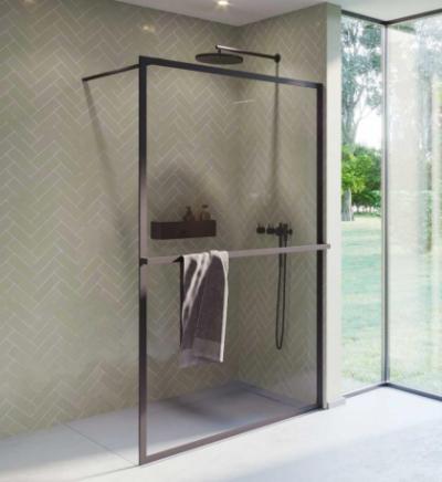 Душевой уголок Riho Lucid GD400 GD410B000 100 x 200 см, стекло прозрачное, профиль черный матовый