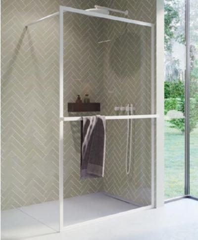 Душевой уголок Riho Lucid GD400 GD410W000 100 x 200 см, стекло прозрачное, профиль белый матовый