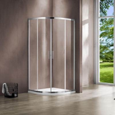 Душевой уголок Vincea Garda VSQ-1G100CL, 100 x 100 см, четверть круга, дверь раздвижная, стекло прозрачное, хром