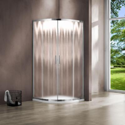 Душевой уголок Vincea Garda VSQ-1G100CH, 100 x 100 см, четверть круга, дверь раздвижная, стекло шиншилла, хром