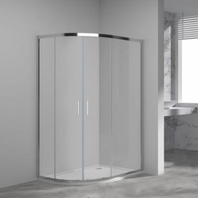 Душевой уголок Vincea Garda VSJ-1G129CL, 120 x 90 см, асимметричный, дверь раздвижная, стекло прозрачное, хром