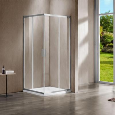 Душевой уголок Vincea Garda VSS-1G800CL, 80 x 80 см, квадратный, дверь раздвижная, стекло прозрачное, хром