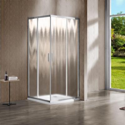 Душевой уголок Vincea Garda VSS-1G800CH, 80 x 80 см, квадратный, дверь раздвижная, стекло шиншилла, хром