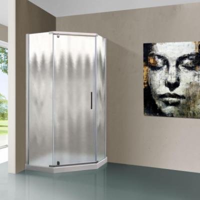 Душевой уголок Vincea Stresa VSP-1S100CH, 100 x 100 см, пятиугольный, дверь распашная, стекло шиншилла, хром