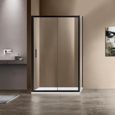 Душевой уголок Vincea Garda VSR-1G9012CLB, 120 x 90 см, прямоугольный, дверь раздвижная, стекло прозрачное, черный