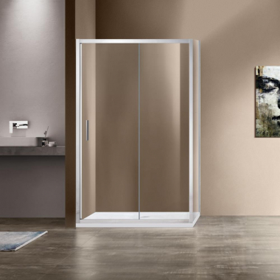 Душевой уголок Vincea Garda VSR-1G8013CL, 130 x 80 см, прямоугольный, дверь раздвижная, стекло прозрачное, хром