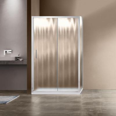 Душевой уголок Vincea Garda VSR-1G8014CH, 140 x 80 см, прямоугольный, дверь раздвижная, стекло шиншилла, хром