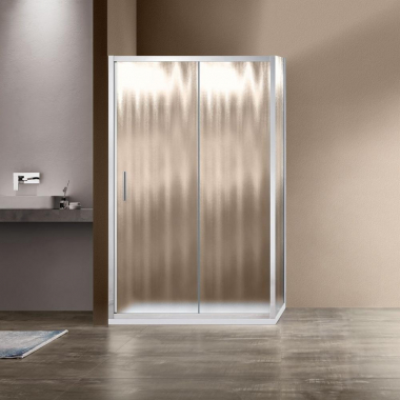 Душевой уголок Vincea Garda VSR-1G1015CH, 150 x 100 см, прямоугольный, дверь раздвижная, стекло шиншилла, хром