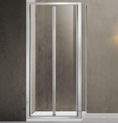 Душевой уголок Vincea Garda VSR-1G8090CL, 90 x 80 см, прямоугольный, дверь складная, стекло прозрачное, хром