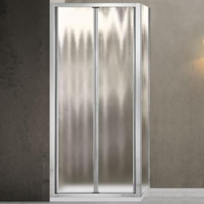 Душевой уголок Vincea Garda VSR-1G8090CH, 90 x 80 см, прямоугольный, дверь складная, стекло шиншилла, хром