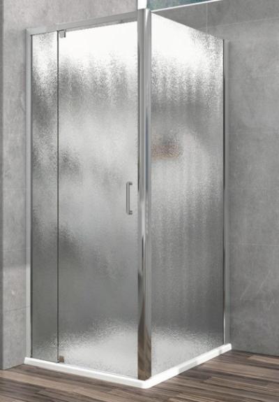 Душевой уголок Vincea Intra VSR-1I901080CH, 90/100 x 80 см, прямоугольный, дверь распашная, стекло шиншилла, хром