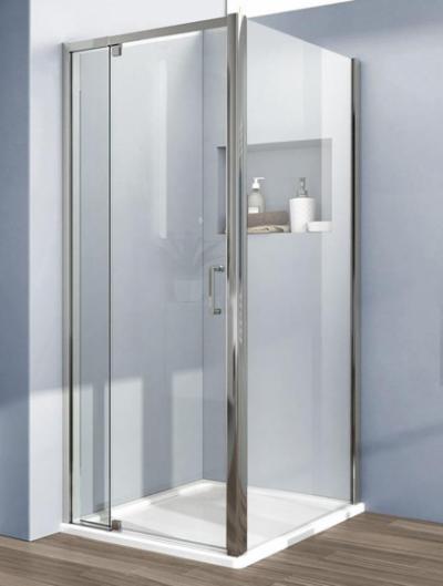 Душевой уголок Vincea Intra VSR-1I901090CL, 90/100 x 90 см, прямоугольный, дверь распашная, стекло прозрачное, хром