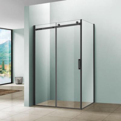Душевой уголок Vincea Como VSR-1C9012CLB, 120 x 90 см, прямоугольный, дверь раздвижная, стекло прозрачное, черный