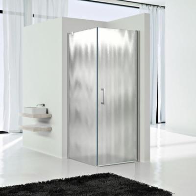 Душевой уголок Vincea Orta VSR-1O9090CH-L/R, 90 x 90 см, квадратный, дверь распашная 1 створка, стекло шиншилла, хром