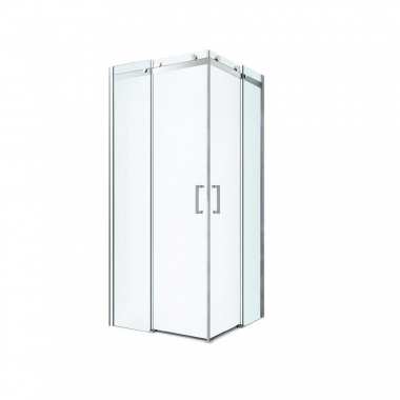 Душевой уголок Berges Wasserhaus Gelios 061026, 80 х 80 см, стекло прозрачное, профиль хром