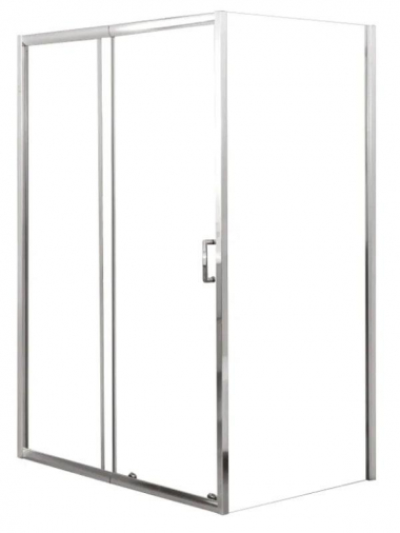 Душевой уголок BelBagno UNIQUE-AH-1-110/125-90-C-Cr, 125 х 90 х 190 см, профиль хром, стекло прозрачное
