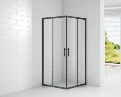 Душевой уголок Cezares ECO-O-A-2-100-C-NERO, 100 х 100 х 190 см, стекло прозрачное