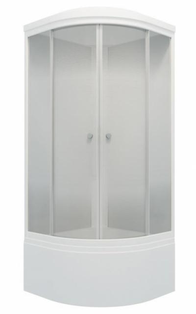 Душевая кабина Triton Лайт Б 90 x 90 см, четверть круга, градиент, высокий поддон, сифон, ДН4