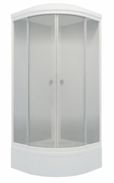 Душевая кабина Triton Лайт В 100 x 100 см, четверть круга, градиент, средний поддон, сифон, ДН4