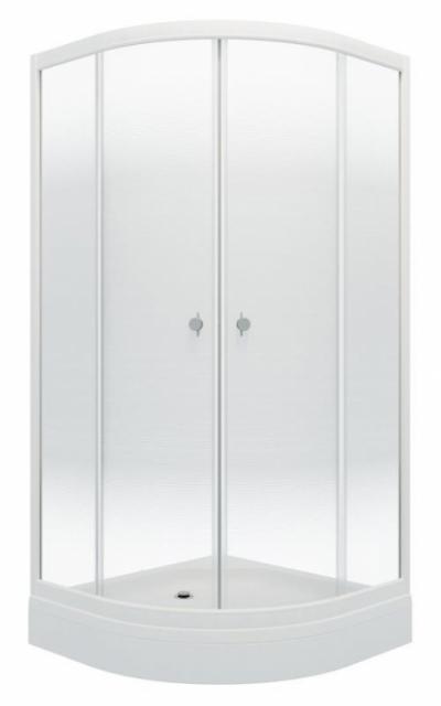 Душевой уголок Triton Лайт А 90 x 90 см, четверть круга, градиент, низкий поддон, стекло прозрачное