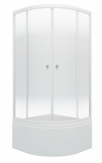 Душевой уголок Triton Лайт Б 90 x 90 см, четверть круга, градиент, высокий поддон, стекло прозрачное