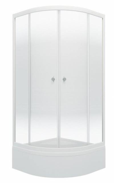 Душевой уголок Triton Лайт В 90 x 90 см, четверть круга, градиент, средний поддон, стекло прозрачное