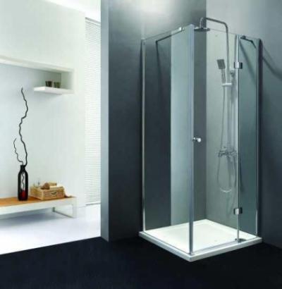 Душевой уголок Cezares VERONA-A-1-100-C-Cr-L левый, 100 х 100 х 195 см, стекло прозрачное