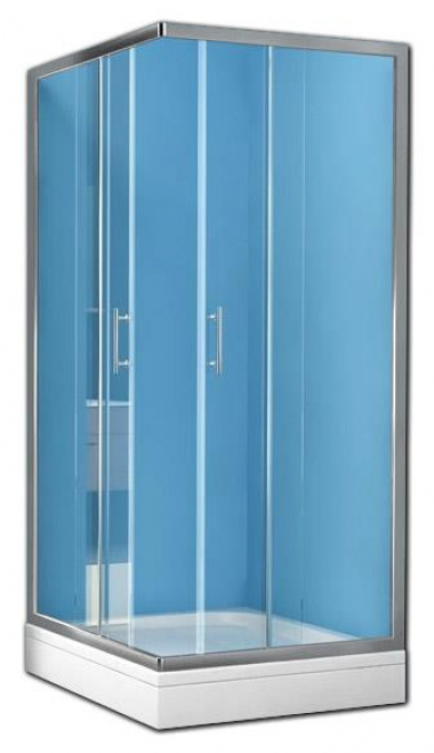 Душевой уголок Kolpa-San Q-LINE TKK, 80 x 80 х 190 см, стекло прозрачное