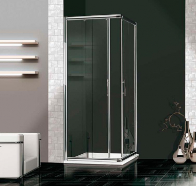 Душевой уголок 2B Box Docce PIU, 90 х 90 х 187,5 см, стекло прозрачное