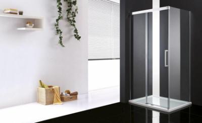 Душевой уголок Cezares, 140 х 80 х 200 см, стекло прозрачное