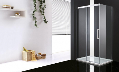 Душевой уголок Cezares, 150 х 90 х 200 см, стекло прозрачное